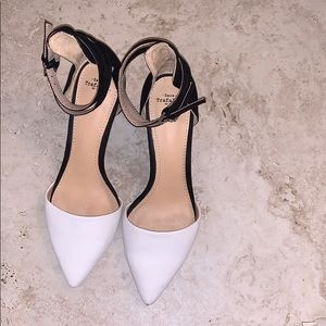 ZARA | black with white heels